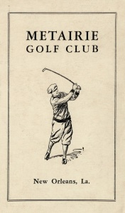 Front of Metairie Golf Club scorecard, dated 1946. New Orleans, La. (Copyright Unknown/Courtesy USGA Museum)